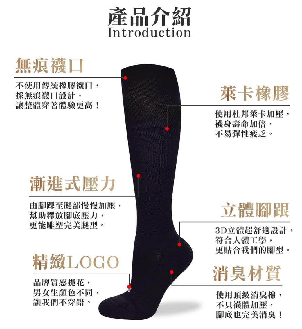 【力美特機能襪】彈力機能壓力襪(厚底款) 4