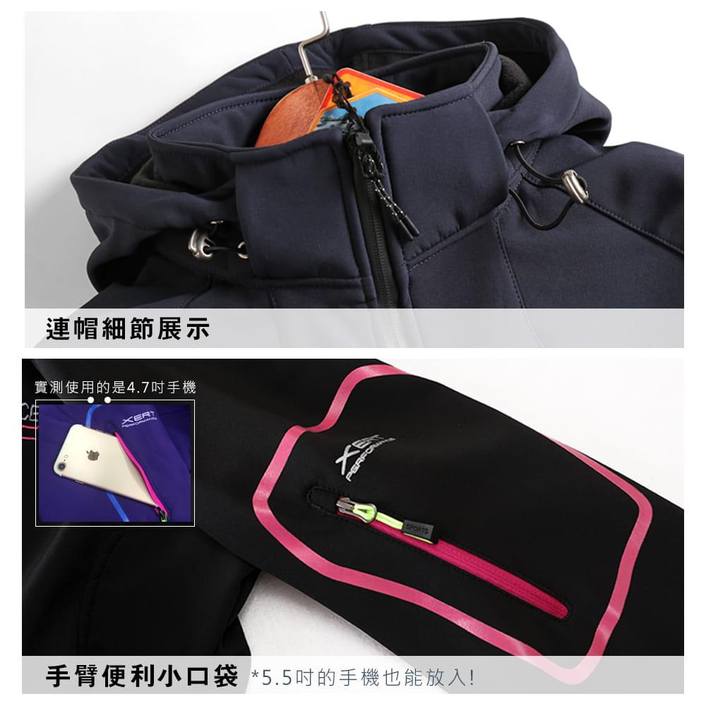 【NEW FORCE】男女款防風聚熱刷毛連帽外套-男女款 5