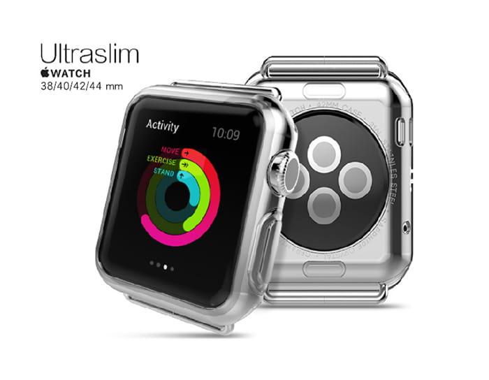 AdpE Apple Watch 3/4/5/6/SE 專用 透明邊框保護殼套 2