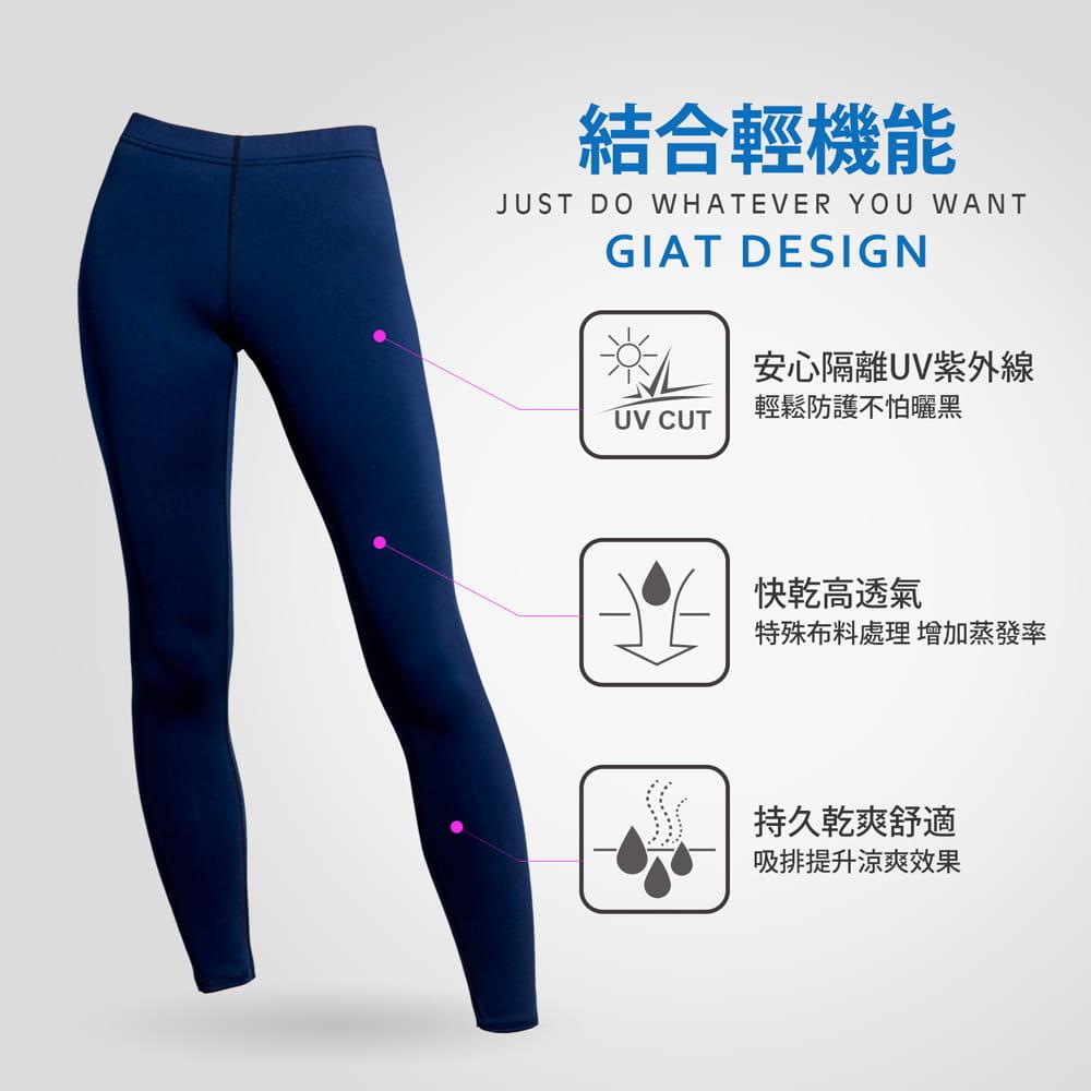 【GIAT】台灣製UPF50+防曬機能運動排汗褲(男女款) 4