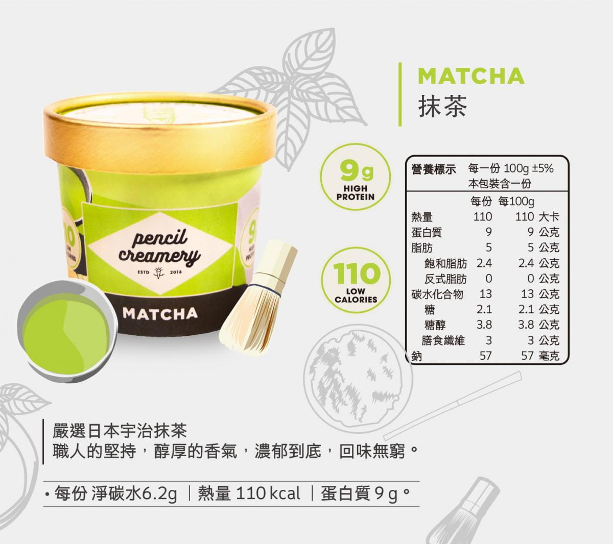 【PENCIL CREAMERY】低脂高蛋白冰淇淋6入起/盒(口味任選) 11