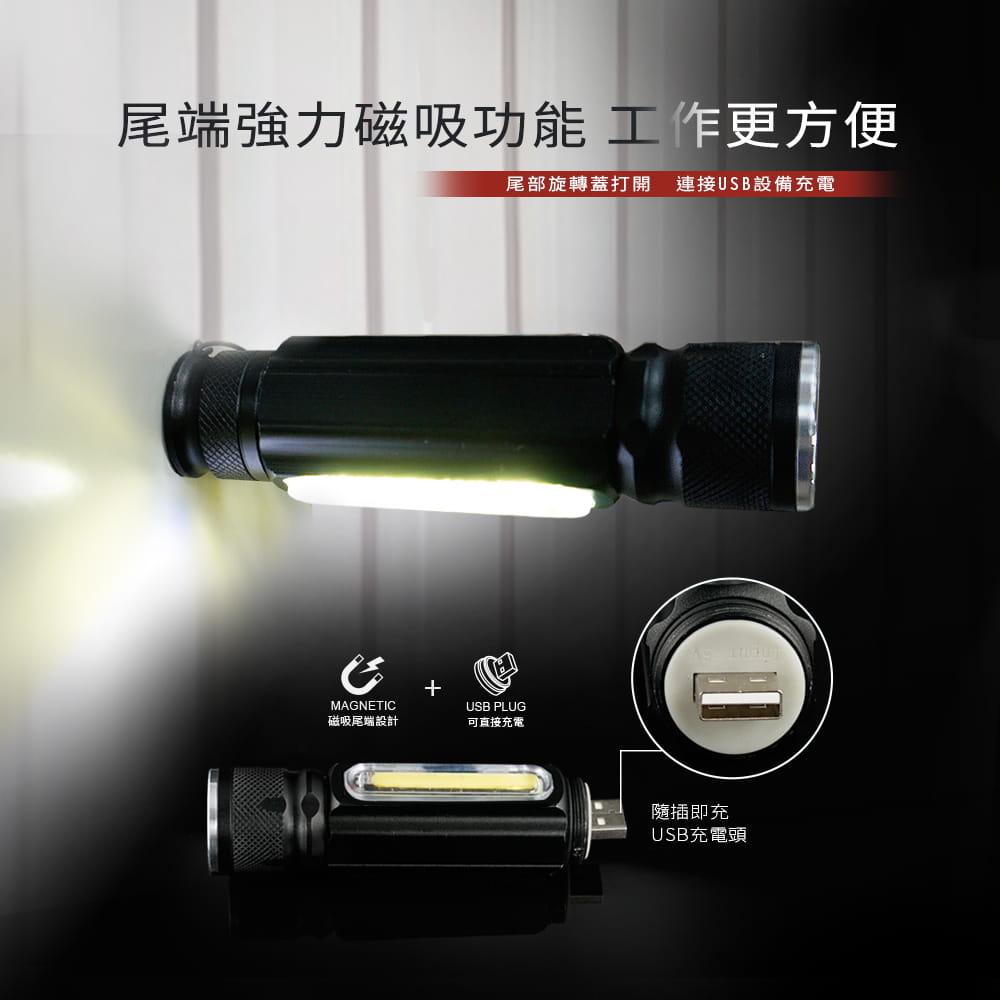 【RONEVER】PA-6充電式工作燈手電筒 4