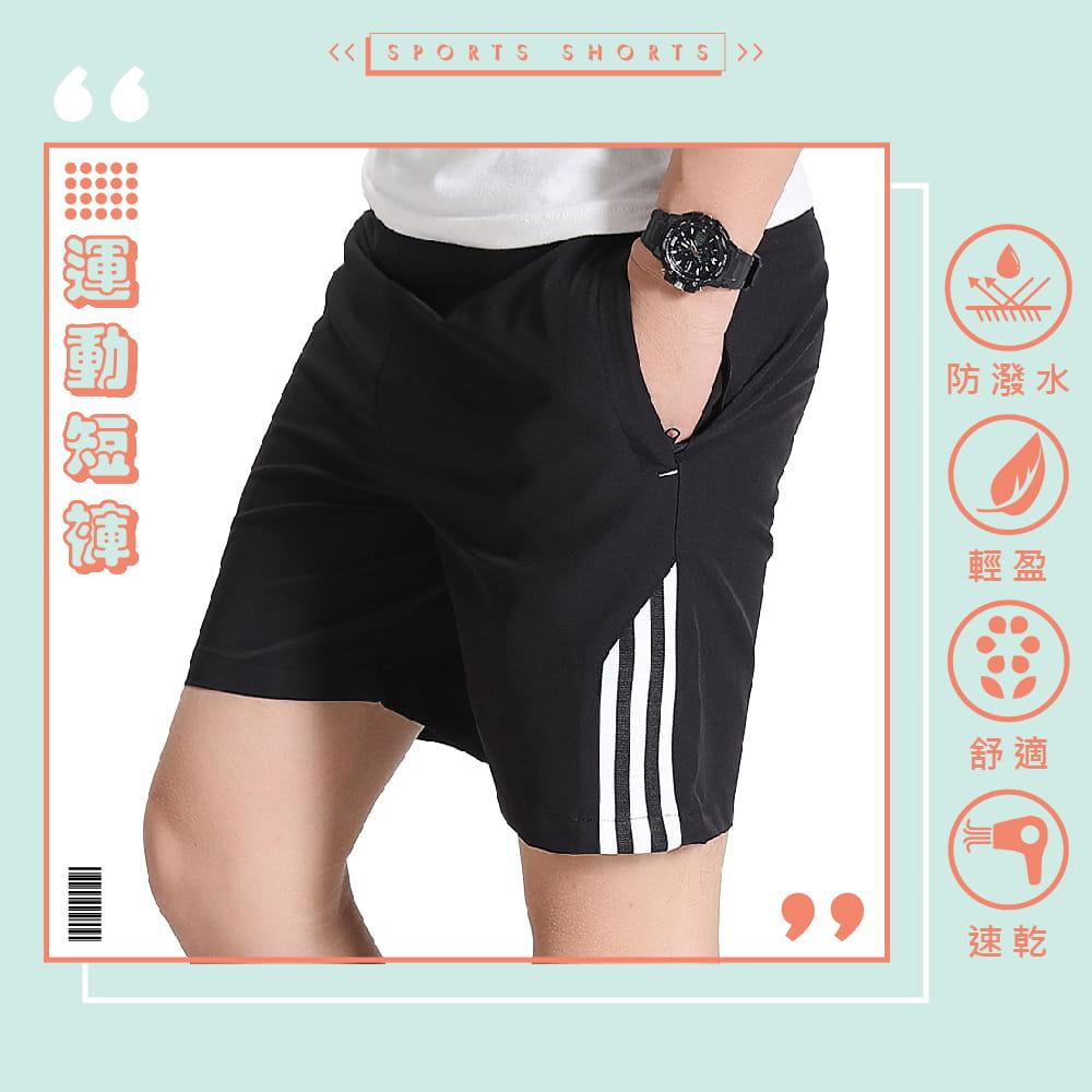 【NEW FORCE】透氣速乾休閒運動男短褲-三色可選 1