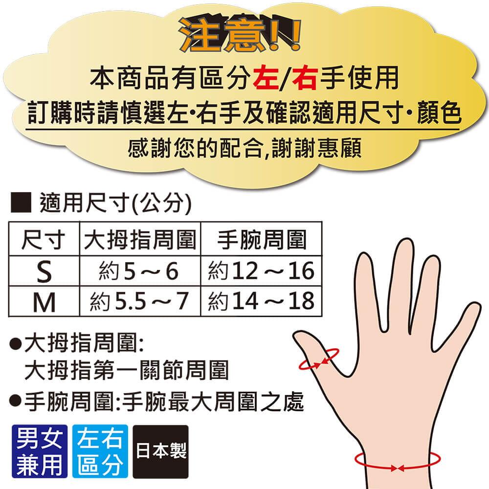 【Alphax】日本製 NEW醫護拇指護腕固定帶 10