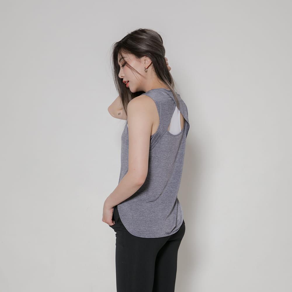 【MARIN】台灣製-酷涼透氣運動背心 黑色/灰色 5