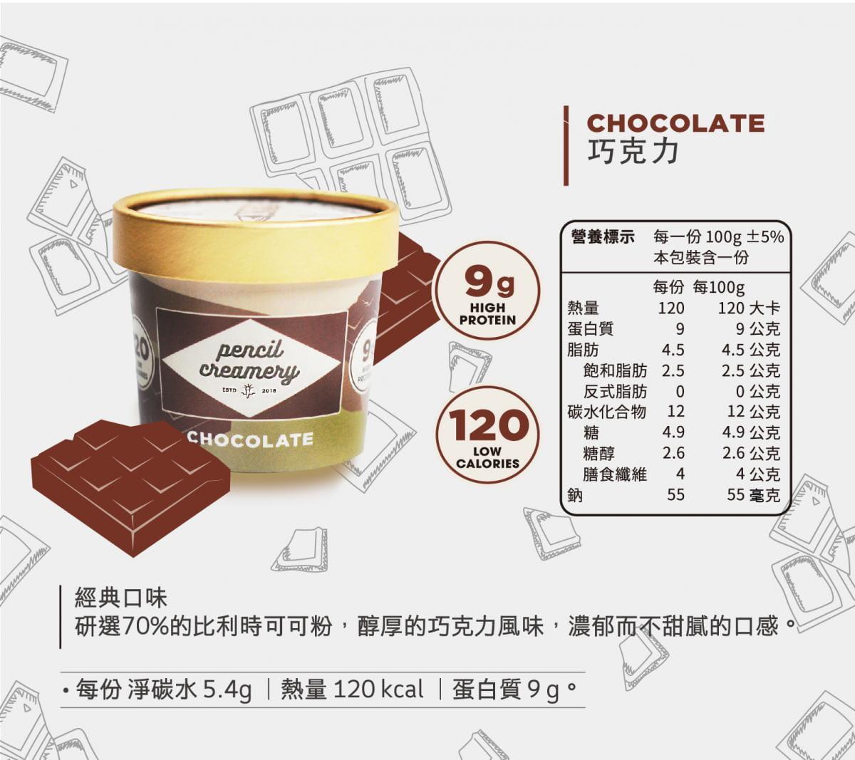 【PENCIL CREAMERY】低脂高蛋白冰淇淋6入起/盒(口味任選) 5