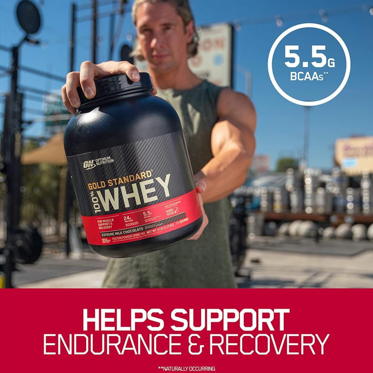【ON 歐恩】[美國ON官方授權經銷] 金牌乳清蛋白 5磅 Whey 100% 乳清 高蛋白 10