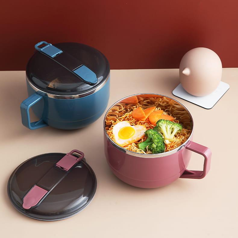 【1300ml】304不鏽鋼泡麵碗 蓋子可瀝水 蓋子可當手機架 SG9139泡麵碗 304不鏽鋼碗 4