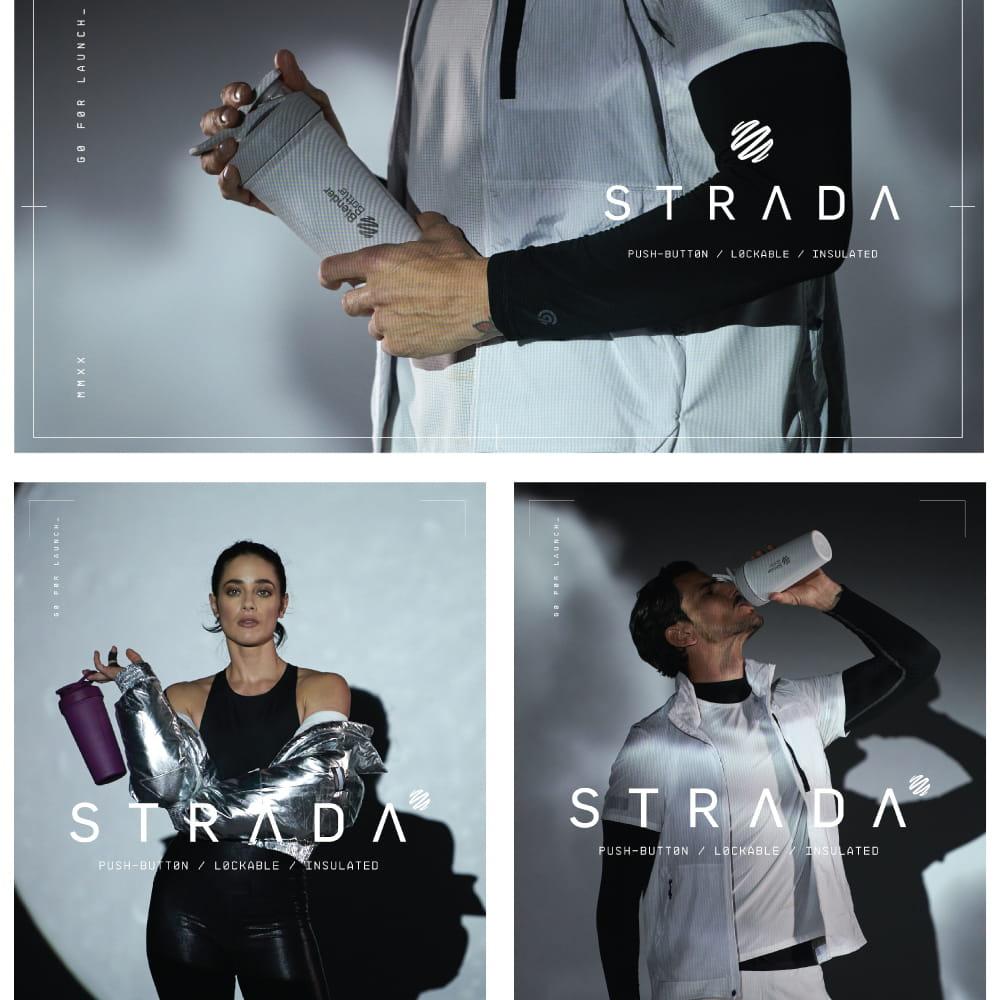 【Blender Bottle】Strada系列|雙層不鏽鋼|卓越搖搖杯|24oz|5色 13
