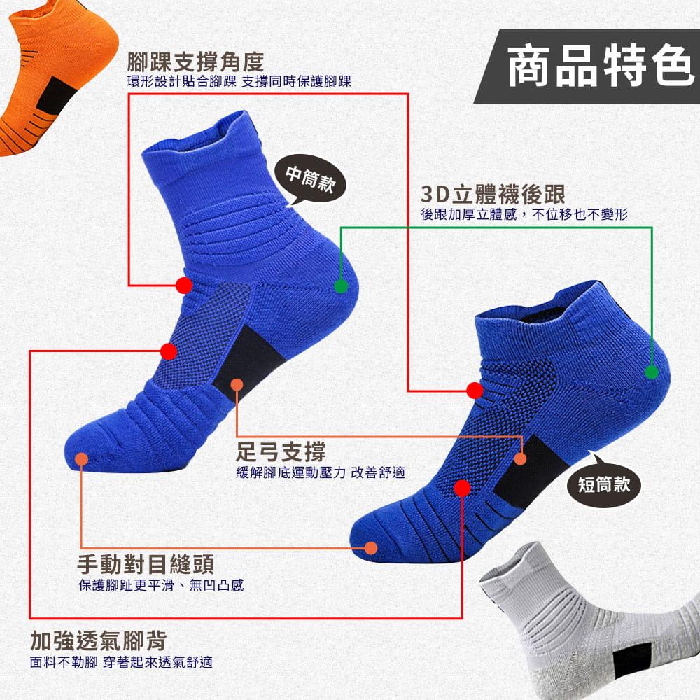 3D透氣排濕防滑運動襪 2