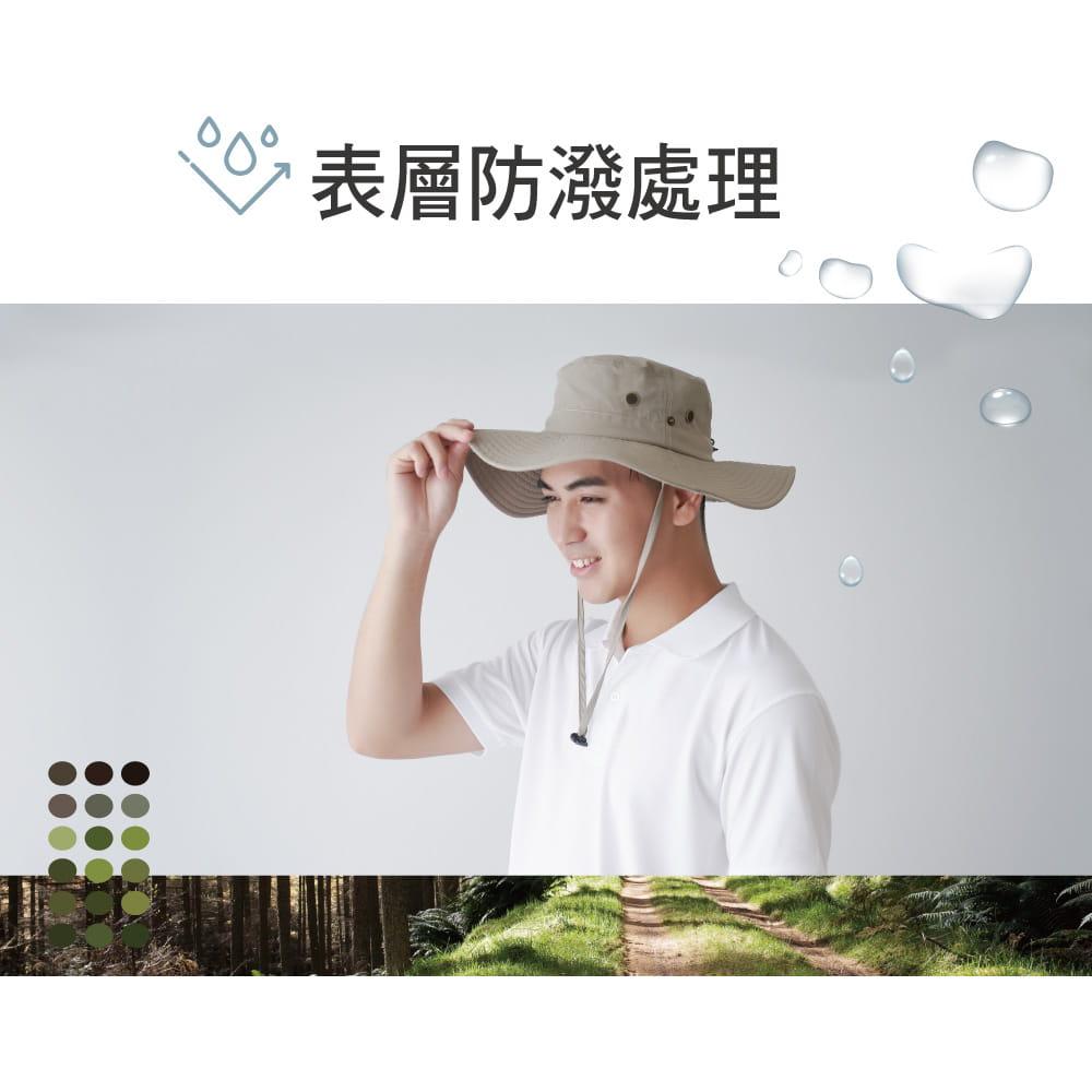 【Peilou】UPF50+多功能休閒遮陽帽-男女款 13