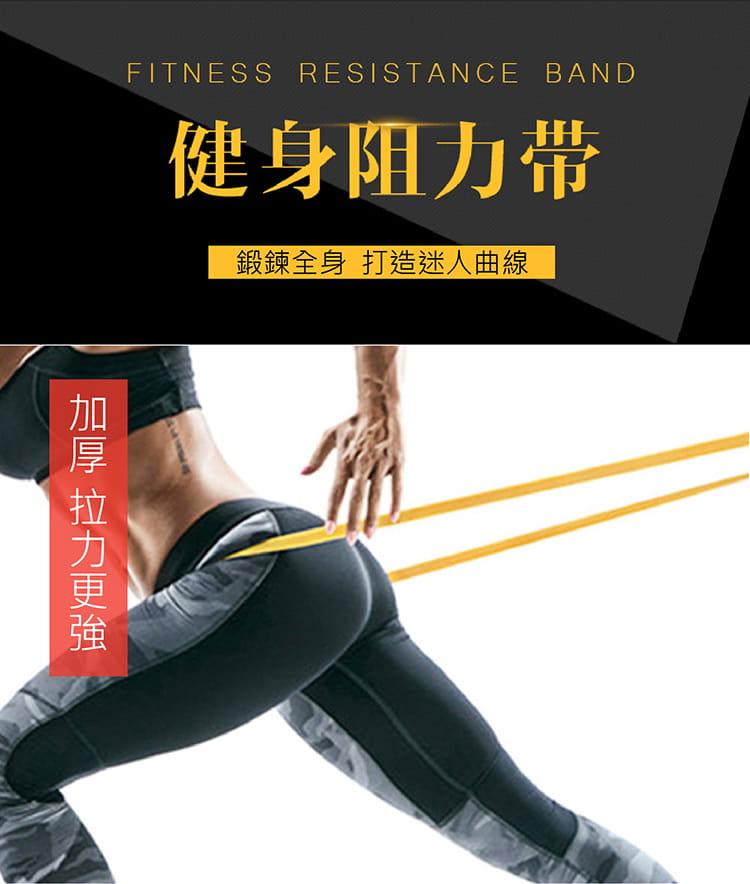 【國際級阻力帶 3件組】15/30/65磅 彈力帶/拉力帶 1