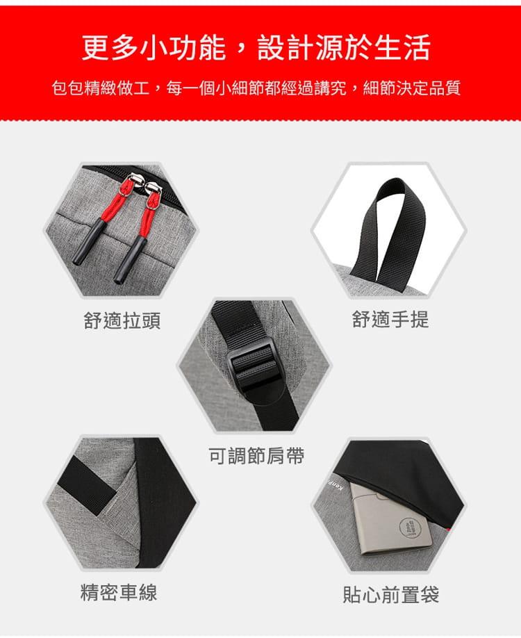 【JAR嚴選】防盜耐磨可充電式多功能雙肩電腦包 15