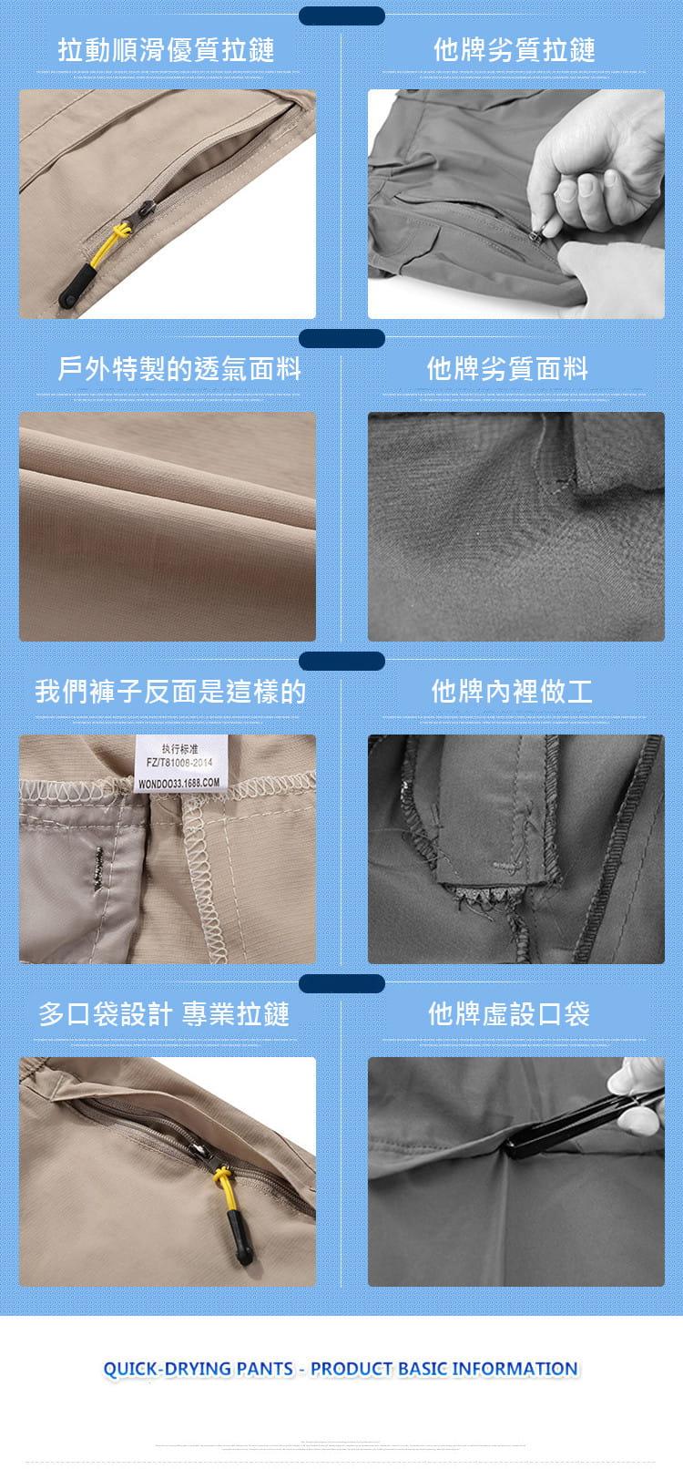 一秒變短褲 兩穿戶外排汗速乾褲【CP16003】 18