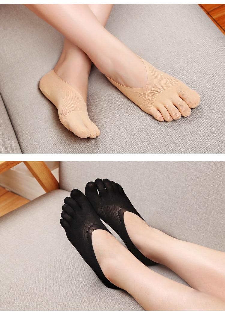 舒適透氣五指船襪 10