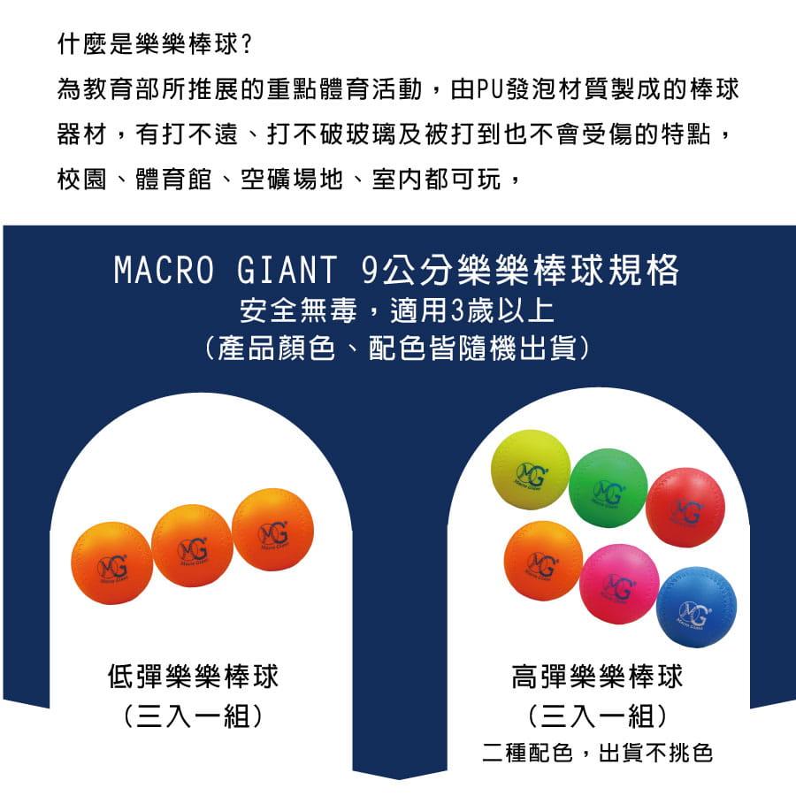 【Macro Giant】樂樂棒球三入球組 3