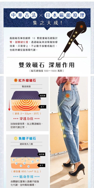 【iFit】【磁気專科】磁石牛仔褲-直筒抽鬚款 12
