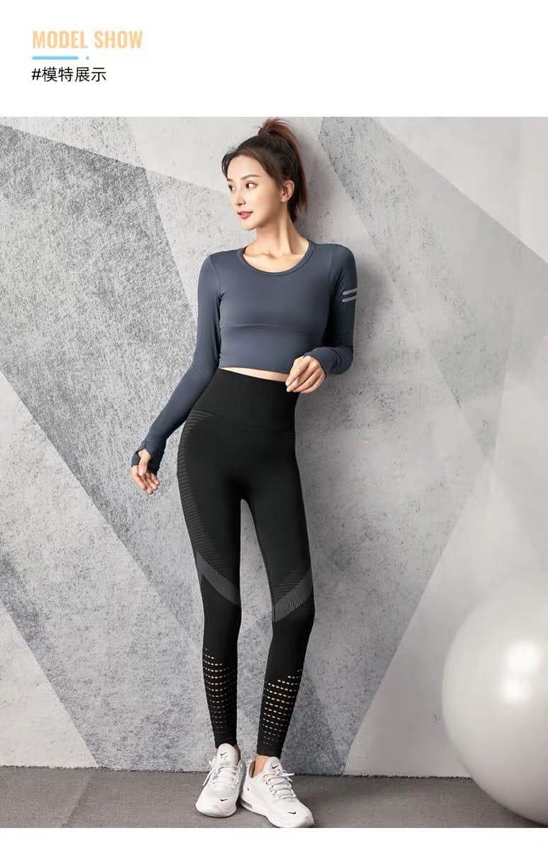 運動長褲無縫大尺碼S-XL韻律有氧跑步瑜珈-KOI 12