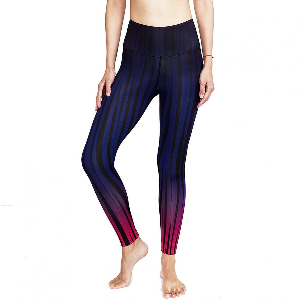 【ELASTI】典莎瑜珈褲(碘紗抗菌除臭機能)-迷幻斑馬 1
