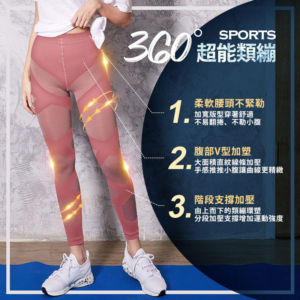 【BeautyFocus】涼感/肌力覺醒顯瘦塑型褲 3