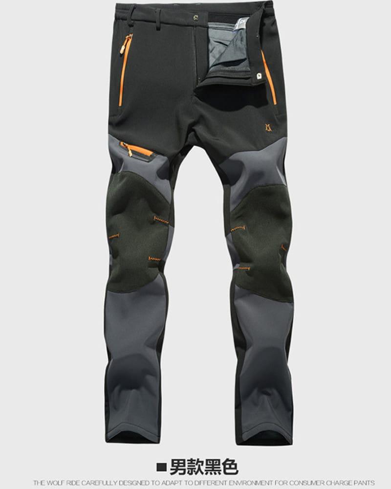 【加絨加厚】拼色防風防水衝鋒褲 戶外機能工作褲【CP16007】 12