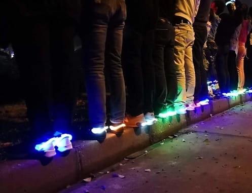 【夜跑用發光鞋夾】 2