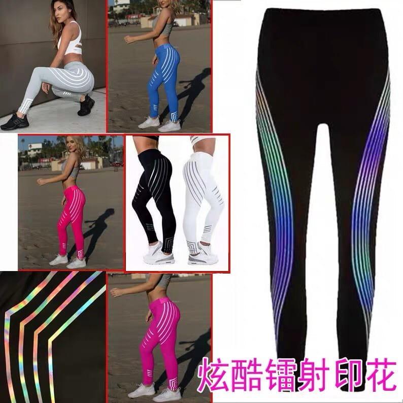 運動長褲韻律有氧跑步瑜珈-KOI 顯瘦修身 反光設計 夜跑走路安全易見有保障 3
