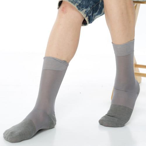 【KEROPPA可諾帕】奈米竹炭絲光棉紳士男襪x2雙C90006 2