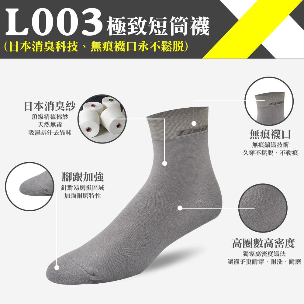 【力美特機能襪】極致短筒襪(灰) 0
