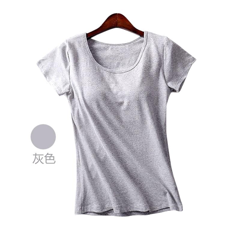 經典涼感好搭透氣免穿Bra顯瘦T恤(多色可選) 3