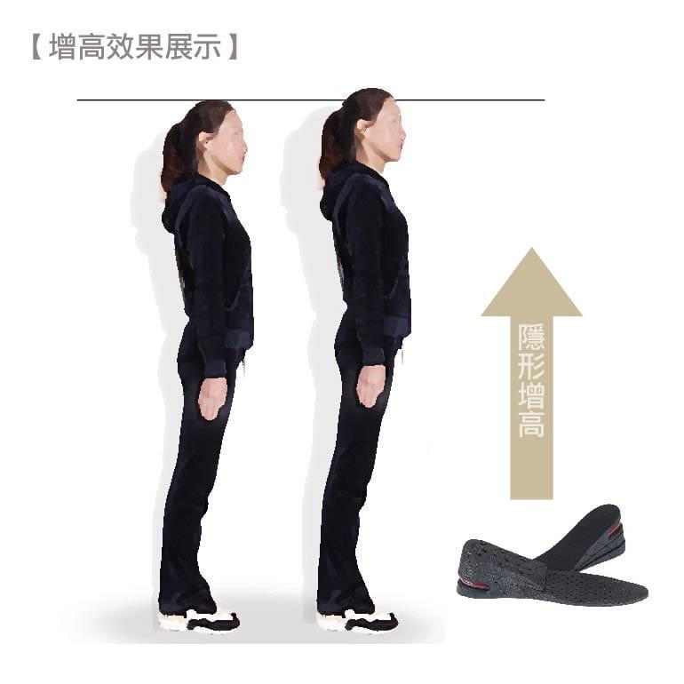 三段式氣墊增高鞋墊可自行調整高度 17