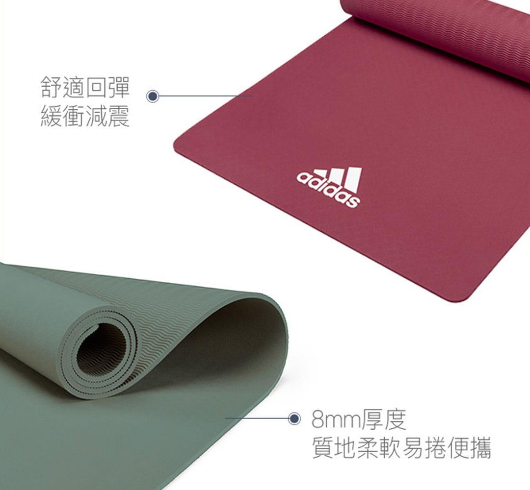 【adidas】輕量波紋瑜珈墊-8mm(共二色) 6