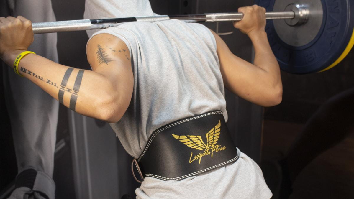 【LEXPORTS 勵動風潮】專業重訓健美腰帶 ◆ 皮革雙扣腰帶 5
