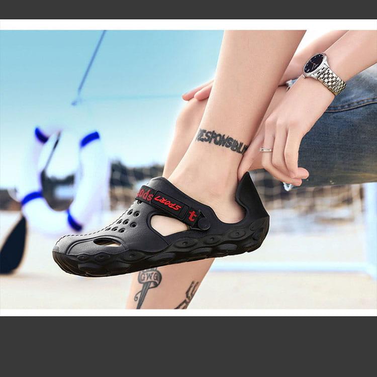 【JAR嚴選】男款厚底運動水陸二用洞洞鞋 12
