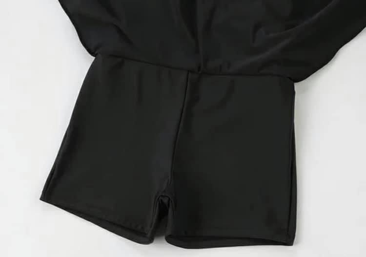 【微笑生活】超顯瘦連身泳裝 大尺碼泳裝 修飾款泳衣 黑色泳裝 2XL 3XL 90kg妞可穿 5