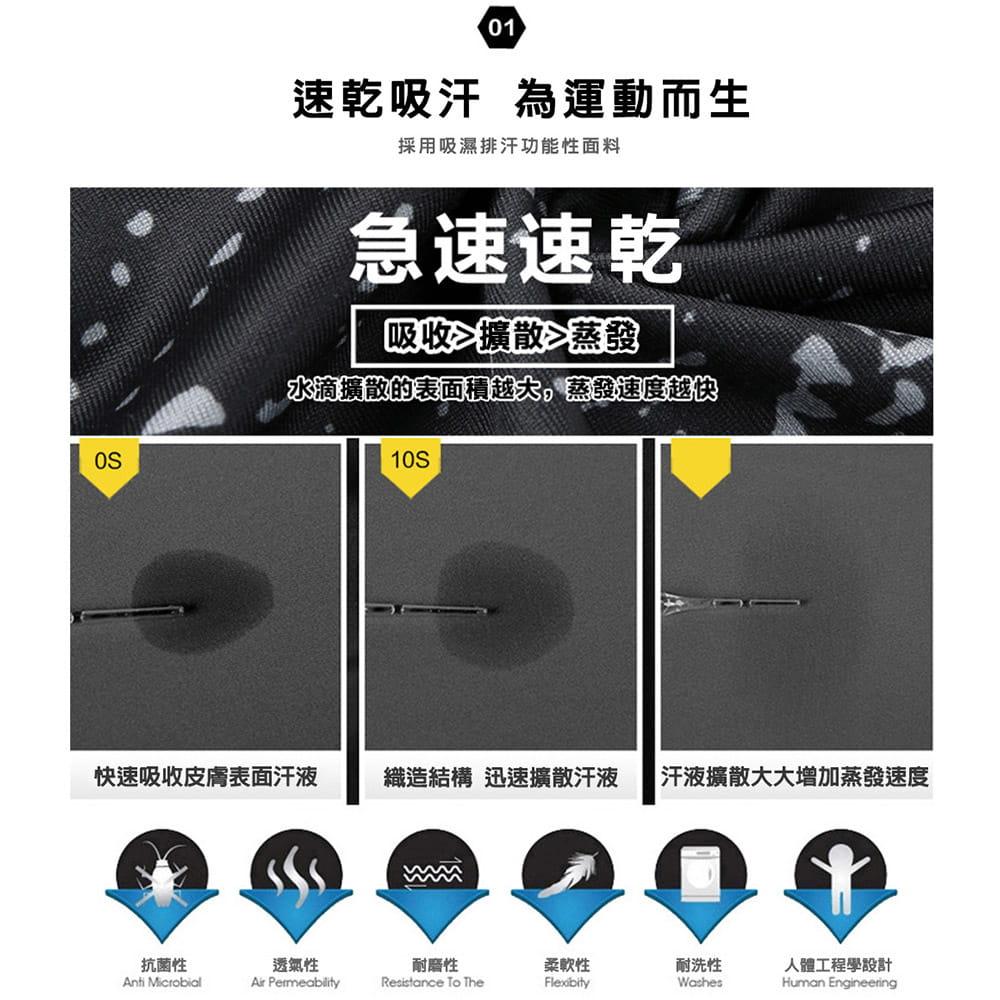 【NEW FORCE】彈力長袖混色速乾排汗衣-2色可選 4