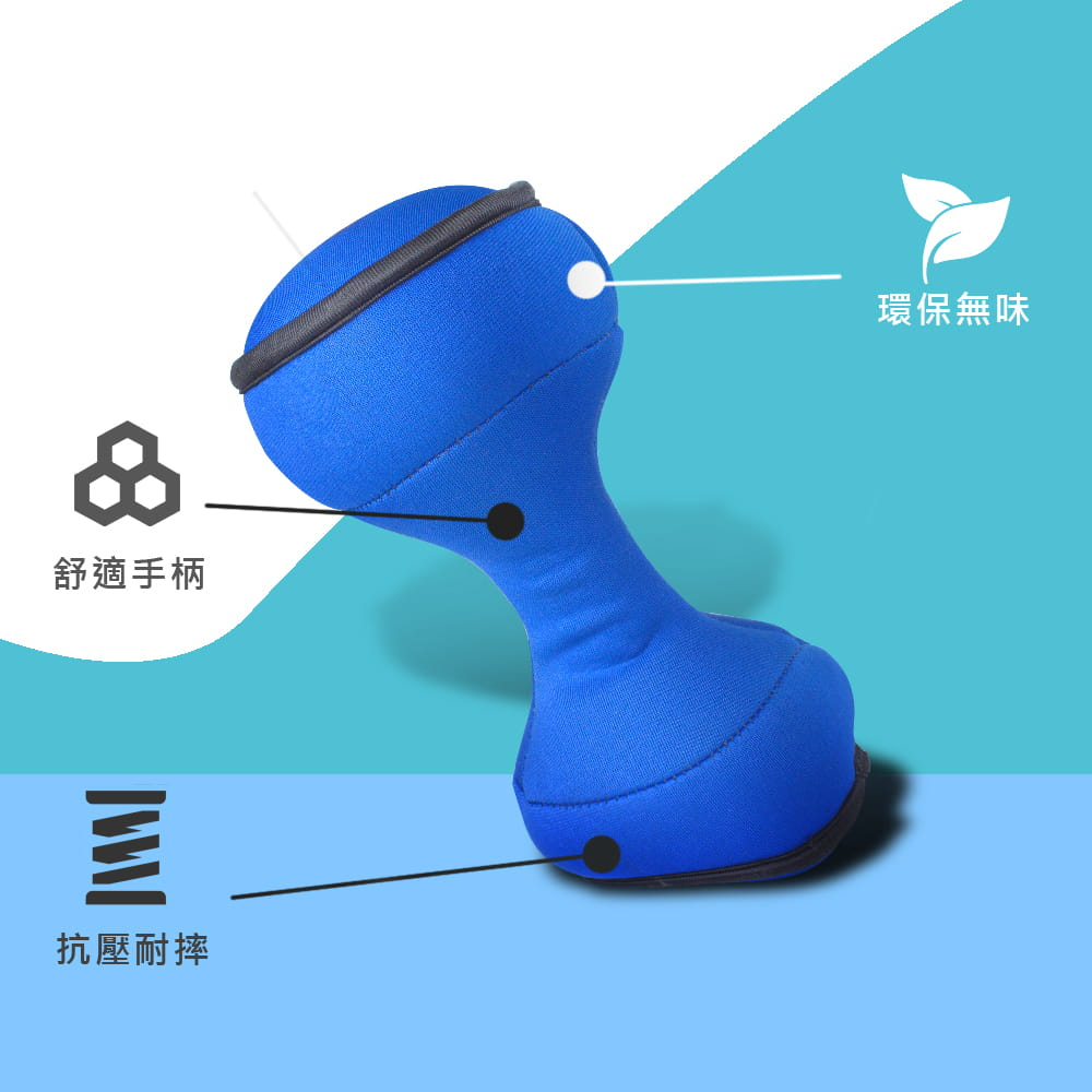 【MACMUS】1公斤 傳統型安全軟式啞鈴|適合居家健身復健 5