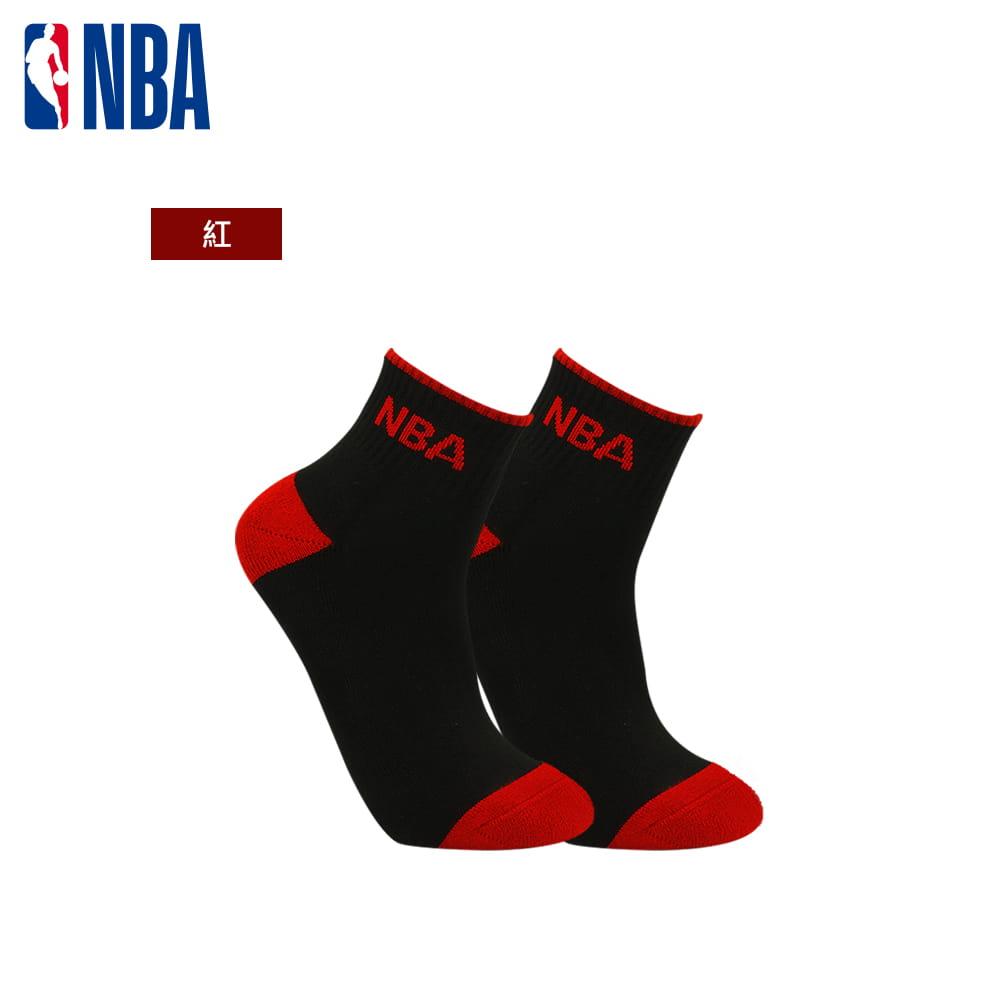 【NBA】運動休閒緹花毛圈短襪 3