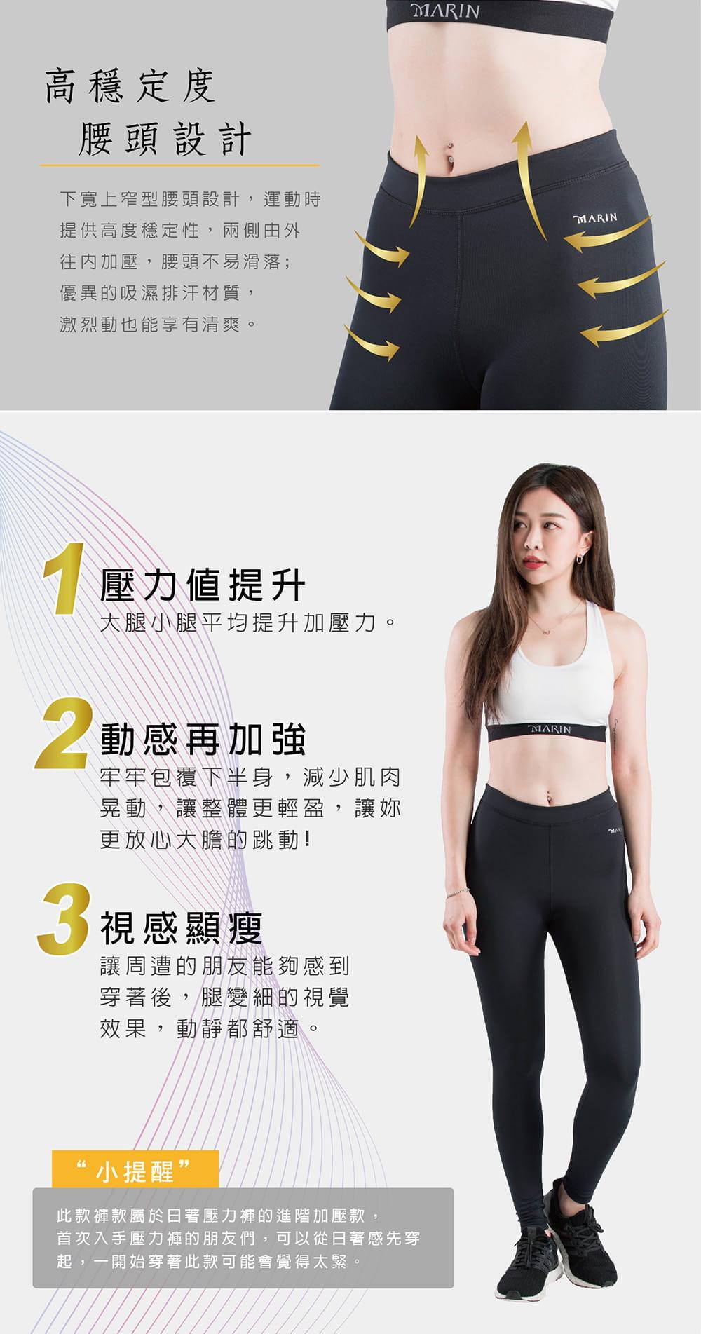 【MARIN】台灣製-重壓縮壓力褲 2