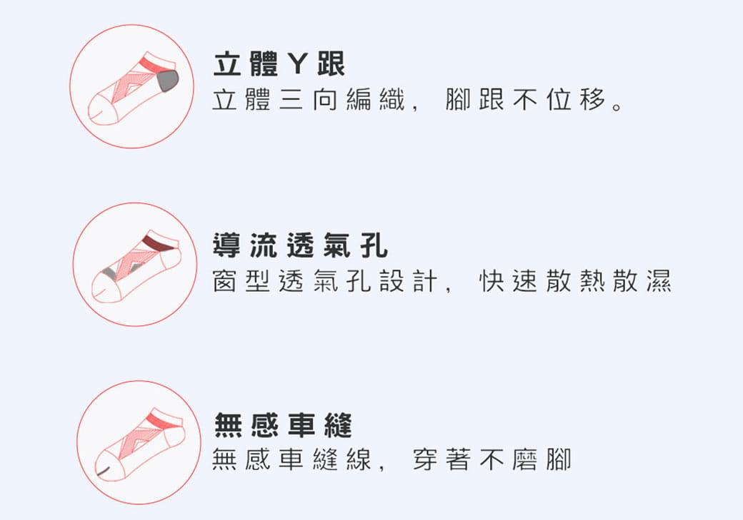 【力美特機能襪】足弓強化運動船襪(紅) 4