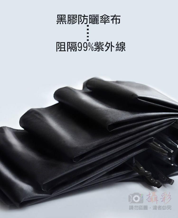 黑膠摺疊反向傘 1