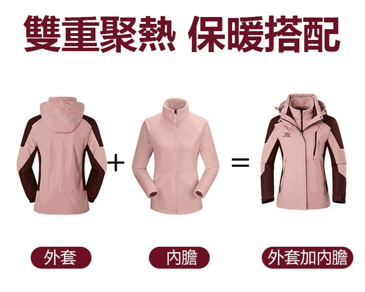 防水保暖禦寒衝鋒外套|三穿 4