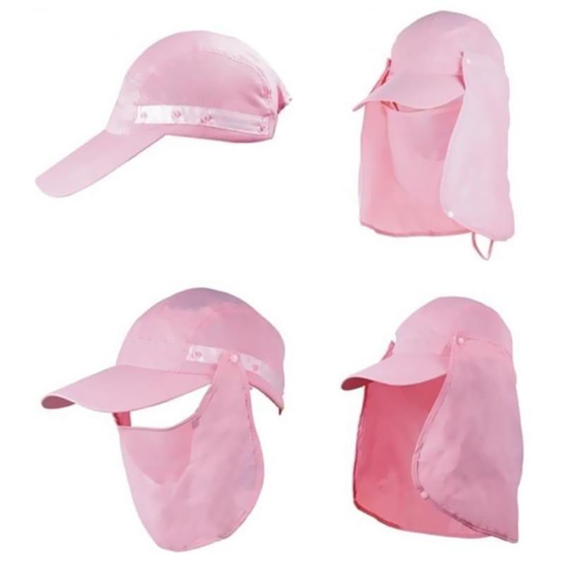 UPF50+抗UV高防曬速乾護頸遮陽帽 10