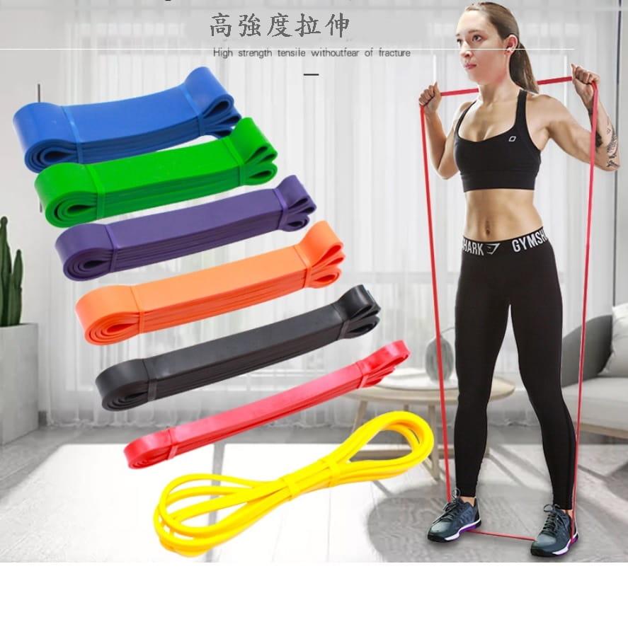 【CAIYI 凱溢】天然乳膠 專業加強版加厚型 力量訓練彈力帶 健身阻力帶 拉力圈 橘色 4