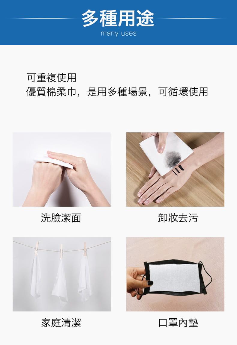 【防疫必備】SGS親膚純棉防疫口罩墊片棉柔巾 100片/包 12