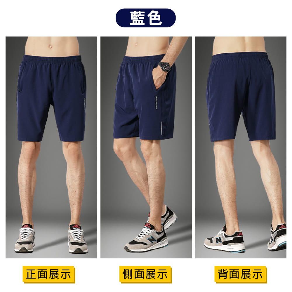 【NEW FORCE】清爽透氣速乾健身短褲-2色可選 8