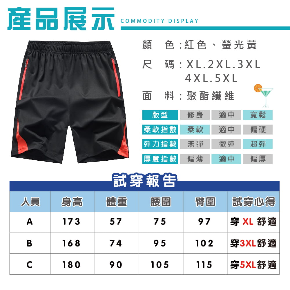 【NEW FORCE】速乾彈力抗皺休閒運動男短褲-兩色可選 8