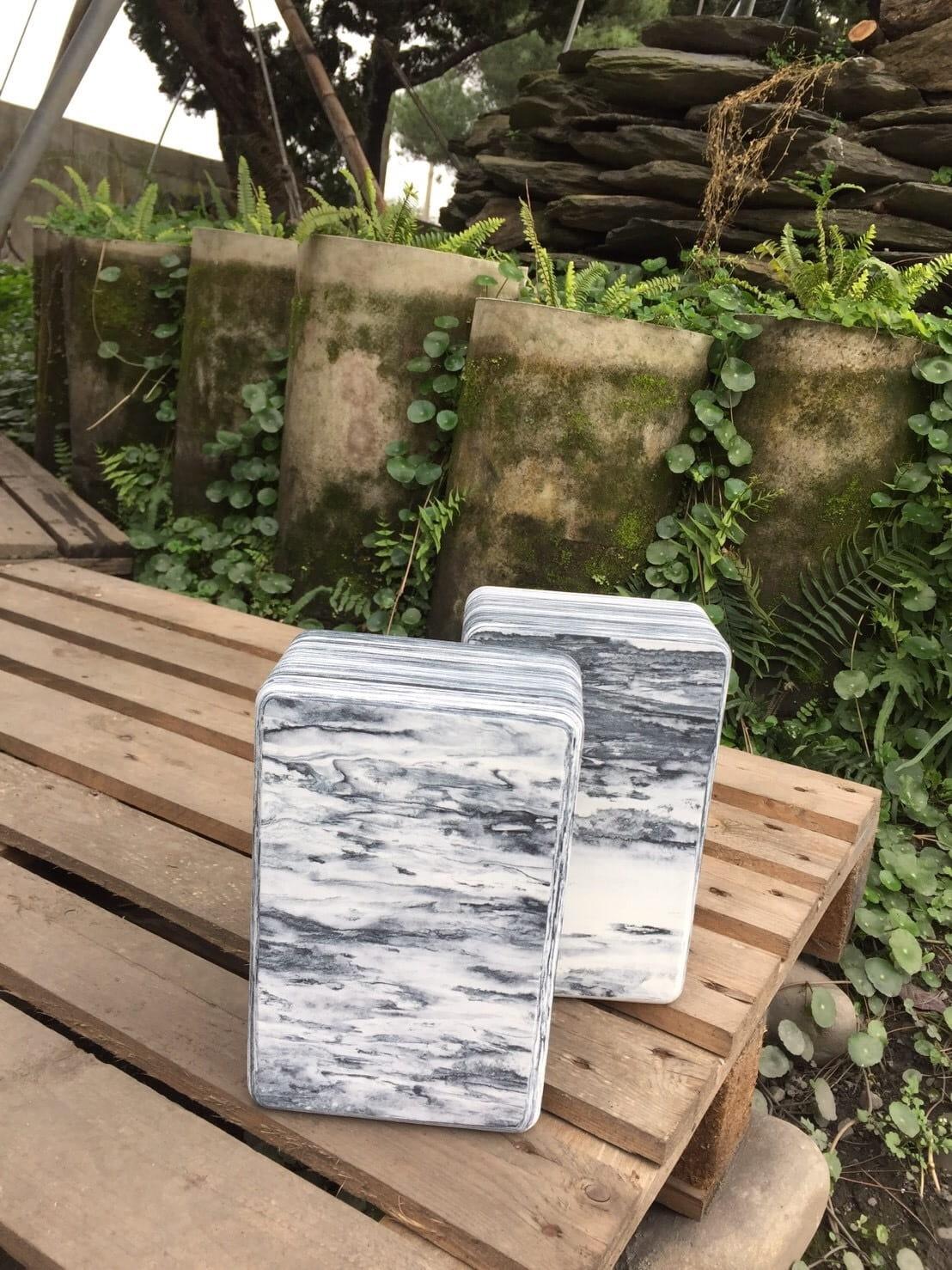 【QMAT】 40D瑜珈磚 混色系-青銅石紋、黑白雲彩 3