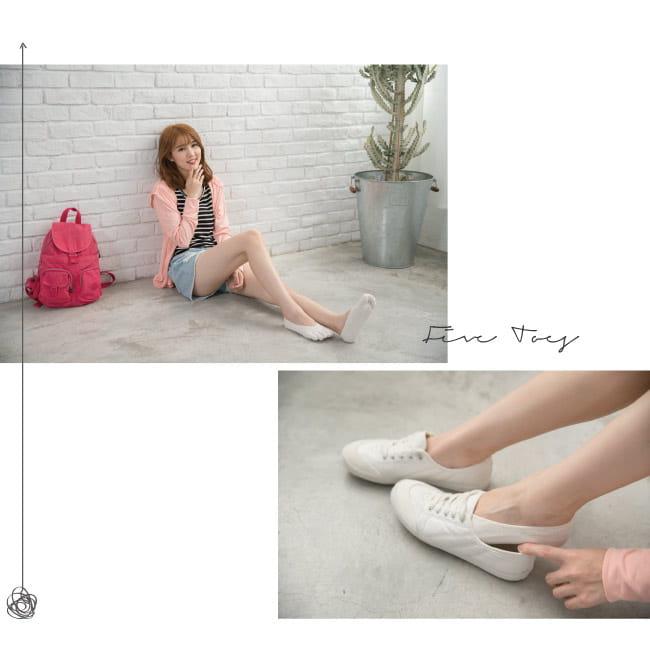 【Peilou】後跟防脫落隱形五指襪(3款可選) 2