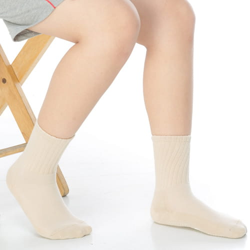 3~6歲學童專用毛巾底止滑短襪x3雙C93001